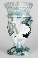 Sowerby / Edward Moore Marbled Slag Glass Gryphon Vase c.1880 (7 of 16)