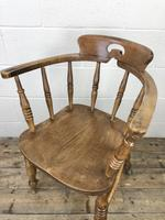 Antique Beech Spindle Back Smoker's Bow Chair (5 of 8)