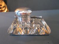George V Period Solid Silver Pen & Inkstand (6 of 7)