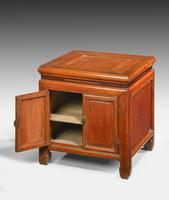 Small 19th Century Oriental Elm Enclosed Stool Table (3 of 3)