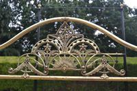 Antique King Size 5ft Half Tester Bedstead by R W Winfield. Bed Restored in your Colour (3 of 19)