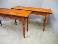 Pair of Large Victorian Mahogany Side Tables (3 of 9)