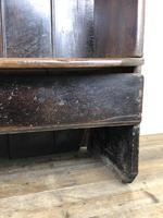 Rustic Antique Country Oak Settle Bench (13 of 14)