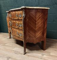 Beautiful French Louis XVI Style Tulip wood marble top commode (11 of 12)