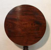 English Georgian Figured Mahogany Tilt Top Tripod Table (2 of 7)