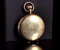 Art Deco Gold Plated Full Hunter Pocket Watch (3 of 11)
