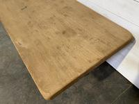 French Bleached Oak Farmhouse Table Nice Thick Top (5 of 14)