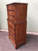 Antique Burr Walnut Chest on Chest (3 of 10)