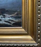 Original 19th Century Period Antique Scottish Highland Bridge Landscape Oil Painting (10 of 11)