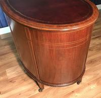 Edwardian Inlaid Mahogany Kidney Shaped Desk (15 of 21)