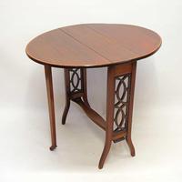 Edwardian  Inlaid Mahogany  Oval Sutherland Table