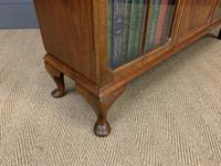 Burr Walnut Bookcase/Side Cabinet (5 of 15)