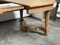 Huge Bleached Oak French Extending Dining Table (5 of 24)