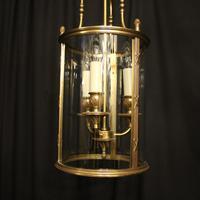 French Gilded Bronze Triple Light Convex Lantern (2 of 10)