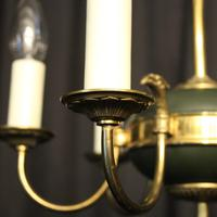 French Gilded Empire 6 Light Chandelier (3 of 8)