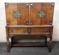 Golden Oak Cocktail Cabinet / Sideboard (4 of 8)