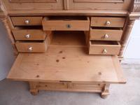 Victorian Waxed Antique Pine 2 Door 2 Piece Secretaire / Bookcase (9 of 10)