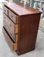 1920s Mahogany Chest of 2 over 3 Drawers with Tramlines (3 of 4)