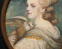 Mrs Mary Desbitt with Dove, After Sir Joshua Reynolds - Portrait Watercolour (3 of 9)