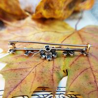 Victorian Diamond Floral Star Bar Brooch in 9ct Gold and Silver (6 of 7)
