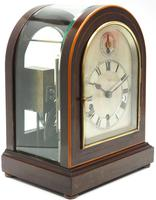Mahogany & Bevelled Glass W&H Mantel Clock Dual Chiming Musical Bracket Clock Chiming on 8 Coiled Gongs (3 of 10)