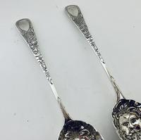 Pair of Antique Regency Solid Silver Berry Spoons (6 of 12)
