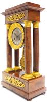 Fine Antique Flame Mahogany Mantel Clock French Striking Portico Mantle Clock (7 of 13)