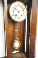 Antique Rocket Cased Single Walnut 8-Day Vienna Regulator Wall Clock by Lenzkirch (5 of 8)