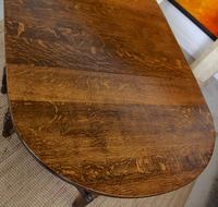 Oak Gateleg Dining Table & 4 Chairs Arts Crafts (13 of 17)