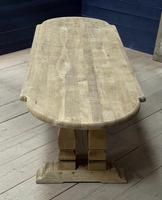 Huge French Bleached Oak Monastery Dining Table (26 of 30)