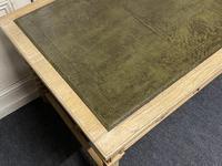 Large Oak 6 Drawer Writing Table (6 of 16)