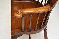 Antique Victorian Mahogany Captains  Desk Chair (7 of 11)