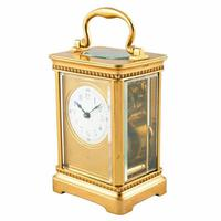 Edwardian French Brass Carriage Clock (2 of 8)