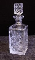 Vintage Cut Glass Square Decanter (2 of 7)