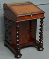 William IV Flame Mahogany Davenport Desk
