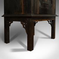 Vintage Ship's Cabinet, Rare, Asian, Coromandel, Decorative Maritime Cupboard (10 of 11)