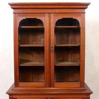 Teak Glazed Library Bookcase (2 of 11)