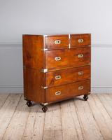 Early 19th Century Mahogany Campaign Chest