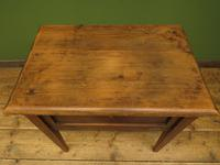 Small Rustic Antique Pine Table with Fall Front (2 of 17)