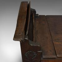 Antique Coffer, French, Oak, Window Seat, Storage Bench c.1700 (7 of 12)