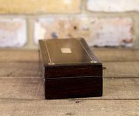 Rosewood & Mother of Pearl Desk Box 1830 (3 of 7)