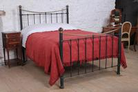 Classic Edwardian dip rail brass and black bed