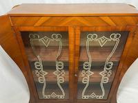 Art Deco Walnut Curved Bookcase Display Storage Cabinet (13 of 29)