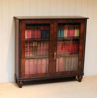 Victorian Rosewood Glazed Bookcase (10 of 10)
