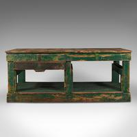 Large Antique Factory Work Table, English, Pine, Industrial, Mill, Victorian (2 of 10)