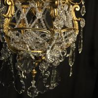French Gilded Bronze Antique Chandelier (9 of 10)