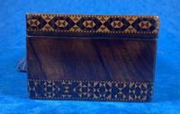 William IV Rosewood Glove Box with Superb Stickware & Tunbridge Ware Inlay (7 of 12)