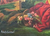 After Amos Cassioli - Large 20th Century Oil on Canvas Painting (6 of 12)