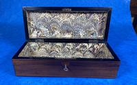 Victorian Brass Mounted  Rosewood  Glove Box (13 of 14)