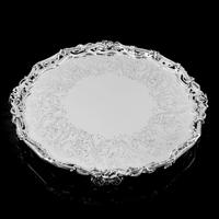 Exceptional Large Solid Sterling Silver Victorian Salver/tray/platter 47cm with Cast Border - Hunt & Roskell - Storr Mortimer & Hunt (9 of 29)